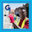 young teen working with safety vest on
